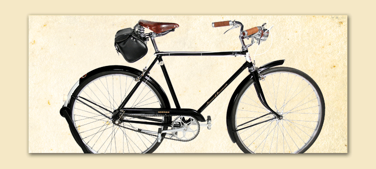 vintage bike after restoration